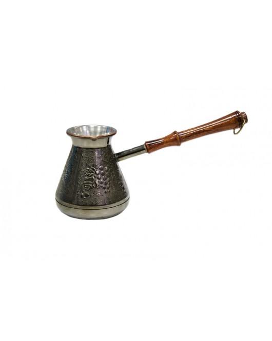 Турка медная Виноградная лоза 500мл Серебро (ВЛ-500)