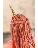 """Мягкая интерьерная игрушка """"Единорог - стильняшка"""" ручная работа, цвет: красный, высота - 45 см, подарок для детей и взрослых"""