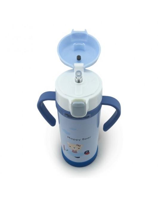 Термокружка детская 380мл Голубой (НY-6408)