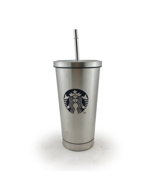 Термокружка с логотипом Starbucks 500мл Серебро (ЕL-272)