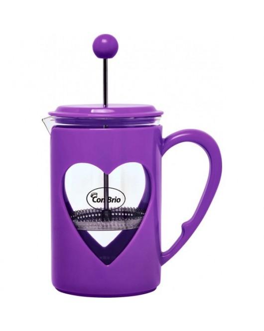 Френч-пресс CON BRIO 600 мл Фиолетовый (СВ-5660)