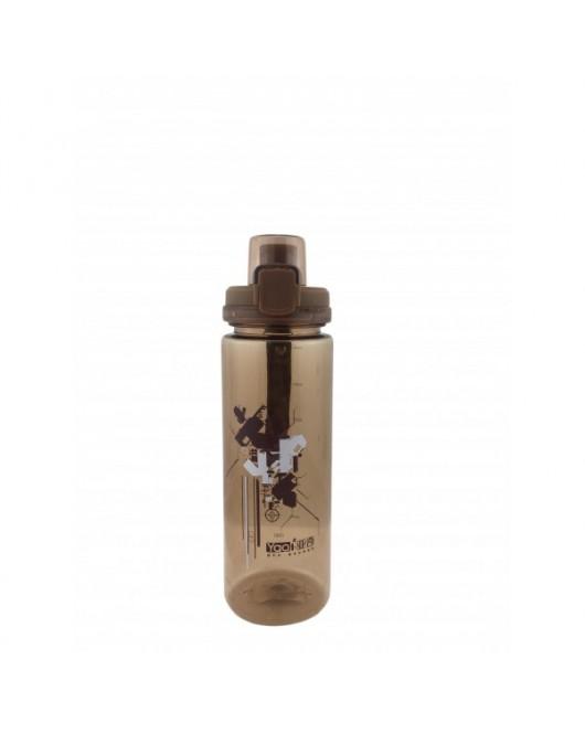Бутылка для воды с поилкой 750мл (коричневая) арт. YQ002