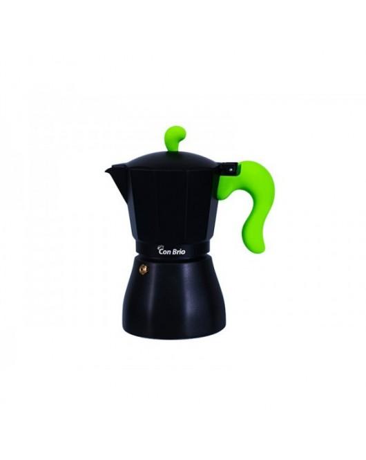 Гейзерная кофеварка Con Brio 450 мл Зеленая ручка (CB-6609)