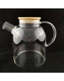 Заварочный чайник с металлическим ситом и деревянной крышкой 1600мл. (Z-483)