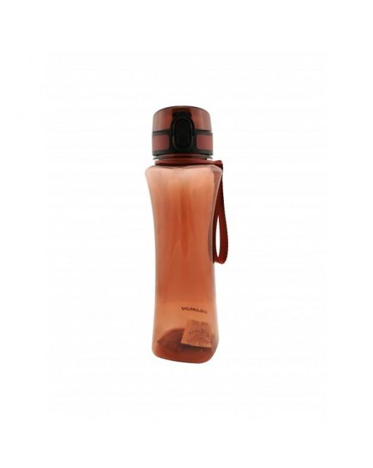 Пляшка для води з поїлкою 600 мл коричнева (8605)