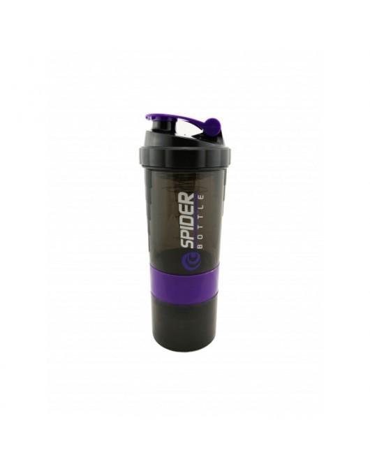 """Шейкер 2-х камерний для спортивного харчування """"SPIDER BOTTLE"""" колір - фіолетовий (SP01)"""