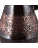 Турка медная Цветочный орнамент Темная 450 мл (ЦО-450)