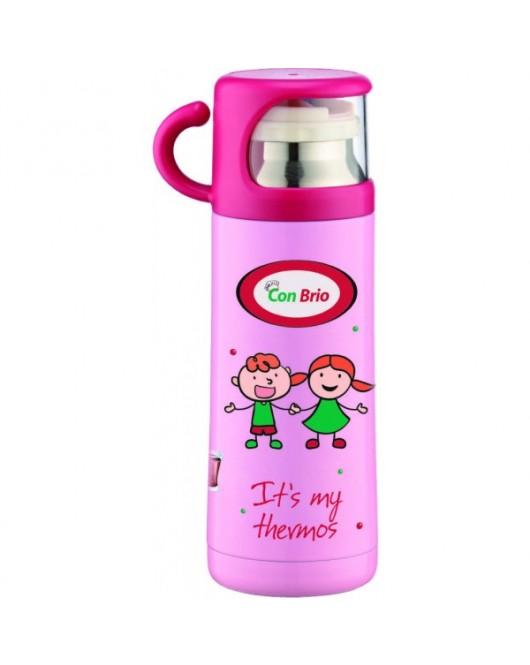 Термос детский 350мл Розовый (СВ-343)