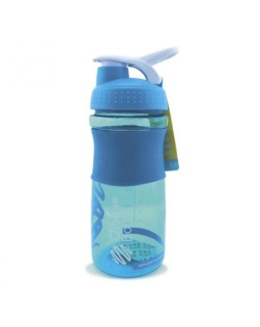 Бутылка для воды 650 мл голубая (DB-2075)