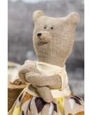 Мягкая игрушка ручная работа лен